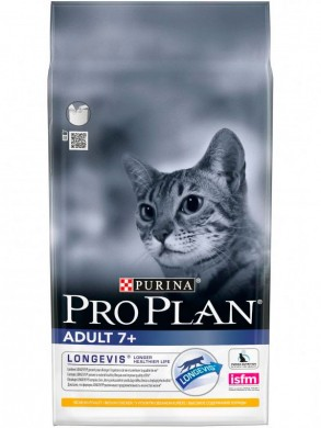 Корм Pro Plan Adult 7+ для кошек старше 7 лет (400гр)