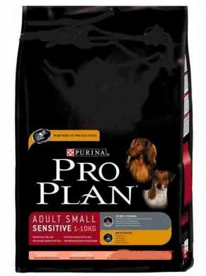 Pro Plan Adult Small Sensitive Salmon & Rice для собак мелких пород с чувствительной кожей (7,5 кг)