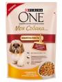 """Корм Purina One """"Моя Собака Любитель поесть"""" для взрослых собак мелких пород c Индейкой, морковью и горохом в подливе (100гр)"""