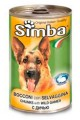 """Консервы Simba для собак """"кусочки с дичью"""" (24шт/уп  по 415 гр)"""