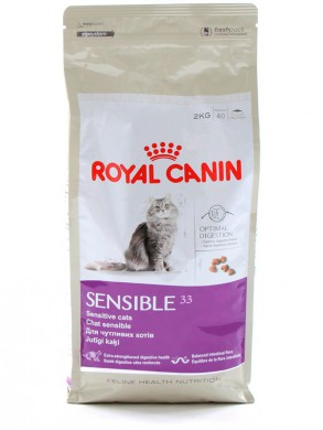 Корм Royal Canin Sensible 33 для кошек с чувствительной пищеварительной системой (15кг)