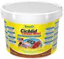 Корм Tetra Cichlid Colour Mini для всех видов цихлид для улучшения окраса, ведро (10л)