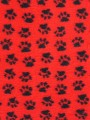 Коврик меховой ProFleece красный/черный 1х1,6 м