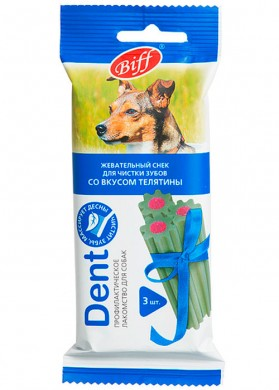 Лакомство Biff Снек Dent для Чистки Зубов Телятина (1шт)