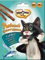 Лакомые палочки для кошек Мнямс Рыбный фестиваль лосось/форель (3х4г)