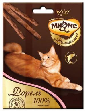 Лакомые палочки Мнямс Деликатес для кошек с форелью 9 см (3х4 г)