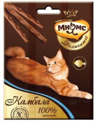 Лакомые палочки Мнямс Деликатес для кошек с камбалой 9 см (3х4 г)