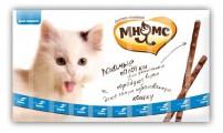 Лакомые палочки Мнямс для кошек Лосось Форель (13,5см*10шт)