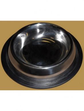 """Миска для собак из нержавеющей стали на резине """"пирамида"""" (0,71 л)"""