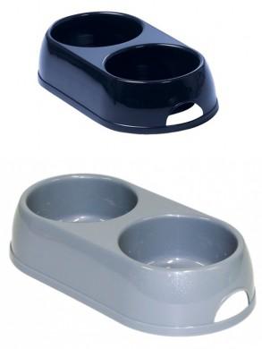 Миска двойная пластиковая Eco duplex (2*230мл)