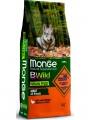 Беззерновой корм Monge Dog BWild Grain Free из мяса утки с картофелем для взрослых собак всех пород