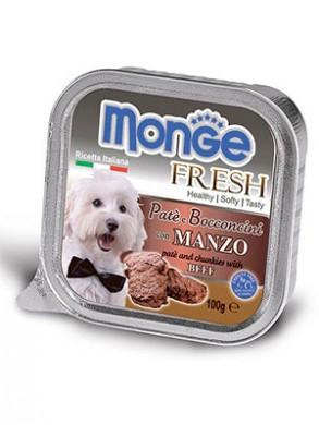 Консервы Monge Dog Fresh для собак говядина (100 г)