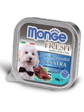 Консервы Monge Dog Fresh для собак с уткой (100 г)