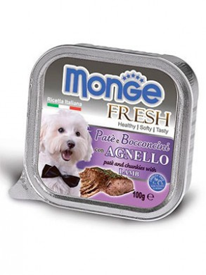 Консервы Monge Dog Fresh для собак с ягненком (100 г)