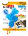 Набор из двух игрушек для собак мелких пород ОРКА косточка+гантеля  ультра-мини