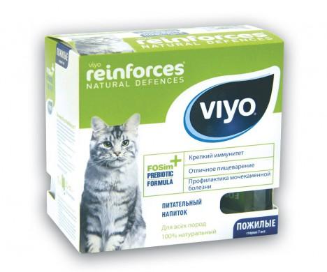 Напиток-пребиотик VIYO Reinforces Cat Senior для пожилых кошек (7х30 мл)