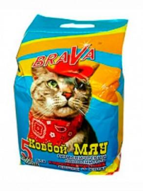 """Наполнитель для кошачьего туалета Брава """"Ковбой Мяу"""" для гладкошерстных кошек (5л)"""