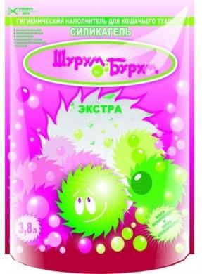 """Наполнитель для туалета силикагелевый """"Шурум-Бурум"""" Экстра (3,8л)"""
