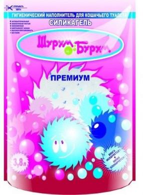 """Наполнитель для туалета силикагелевый """"Шурум-Бурум"""" Премиум"""