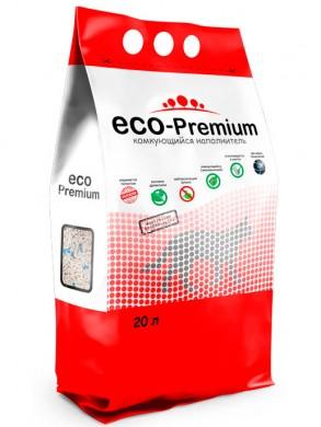 Наполнитель ECO Premium BLUE комкующийся древесный без запаха