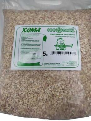 Наполнитель кукурузный Хома для грызунов 5 л