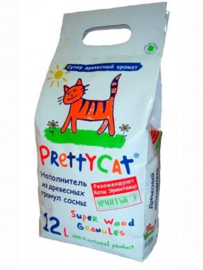 Древесный наполнитель Pretty Cat Wood Granules (12л/2,5кг)