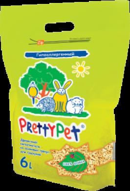 Наполнитель PrettyCat Осиновый для грызунов и птиц (6л/2кг)