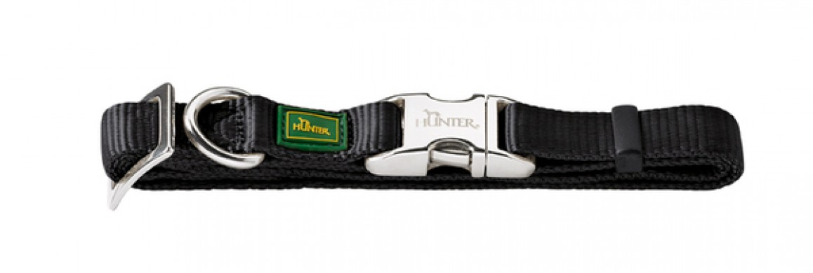 Ошейник для собак Hunter ALU-Strong L черный (45-65 см)