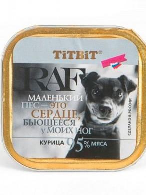 Паштет для собак Titbit RAF с курицей (100гр)
