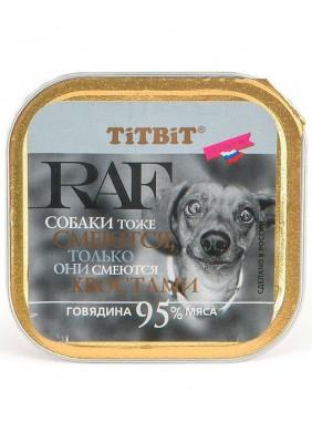 Паштет для собак Titbit с говядиной (100гр)