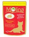 """Пауч для кошек Molina """"Цыпленок для котят"""" в соусе (100гр)"""