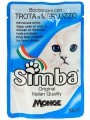 """Пауч для кошек Simba """"Форель с треской"""" (24шт/уп  по 100 гр)"""