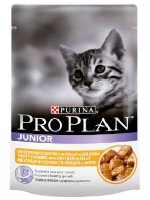 Пауч Pro Plan Junior для котят с курицей (85гр*24шт)