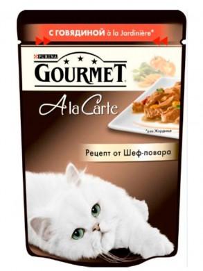 Паучи Gourmed Ala Carte c говядиной (85гр)