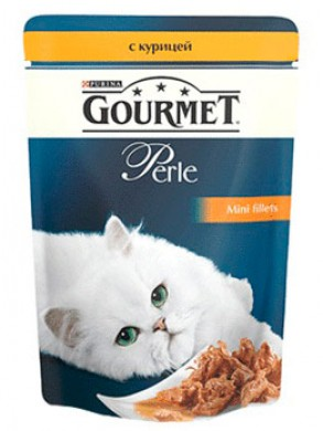 Паучи Gourmed Perl для кошек с курицей (85гр)