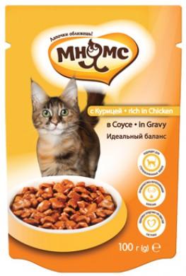 Паучи Мнямс rich in Chicken для взрослых кошек с курицей в соусе (100 г)
