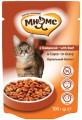 Паучи Мнямс With Beef для взрослых кошек с говядиной в соусе (100 г )