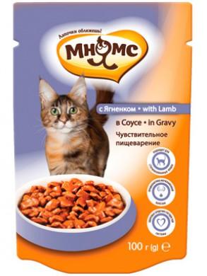 Паучи Мнямс With Lamb для взрослых кошек с ягненком в соусе (100 г )