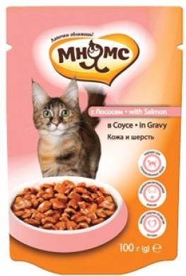 Паучи Мнямс With Salmon для взрослых кошек с лососем в соусе (100 г)