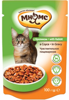 Паучи Мнямс With Rabbit для взрослых кошек с кроликом в соусе (100 г)