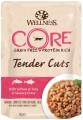 Паучи Wellness Core Tender Cuts для кошек с лососем и тунцом в виде нарезки в соусе (85 гр.)