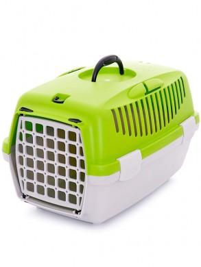 Переноска для кошек Gulliver 1 с пластиковой дверкой, зеленая (48*32*31см)