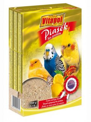 Песок для птиц Vitapol лимонный (1,5 кг)