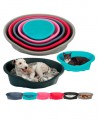 Пластиковый лежак для собак DIDO, серый (65*47*22 см)