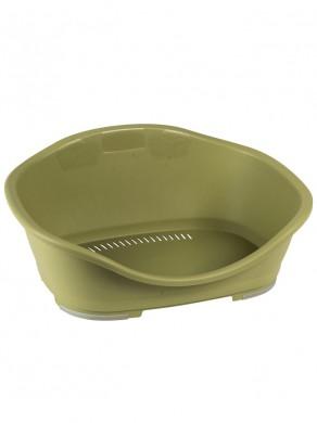 Пластиковый Лежак Sleeper 3, зеленый (80,5x55x32 см)