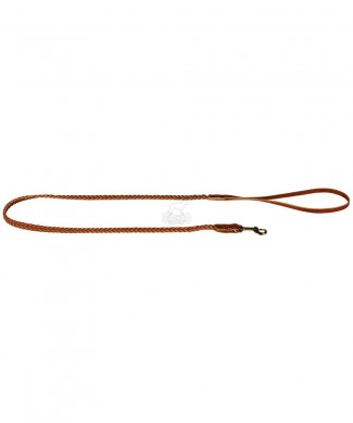 Поводок кожаный плетеный 02010021 (10мм * 1,25м)