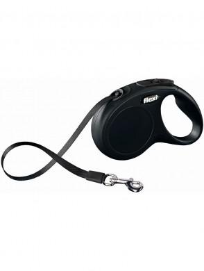 Рулетка Flexi Classiс S ремень, черная (5м*15кг)