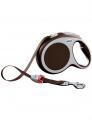 Рулетка-ремень Flexi VARIO L для собак, антрацит (60кг*5м)
