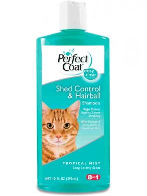 Шампунь для кошек 8in1 PC Shed Control & Hairball против линьки и колтунов с тропическим ароматом (295 мл)