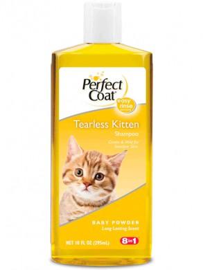 Шампунь для котят 8in1 PC Tearless Kitten без слез с ароматом детской присыпки (295 мл)  Содержимое